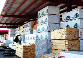 bulk storage buildings for LBM materials