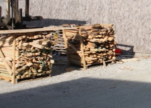 Roughly Stacked Lumber