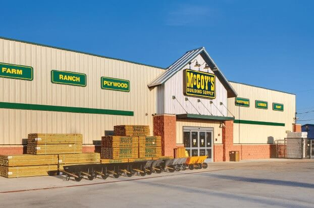 pre-engineered steel building for LBM retail store
