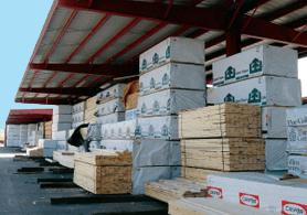 umbrella shed providing storage for building materials