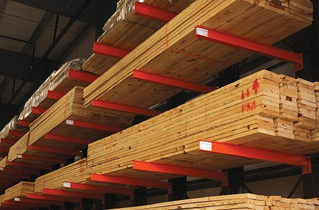 Ganahl Lumber Torrance >> Structural Steel I-beam Cantilever Racks | Sunbelt Rack®