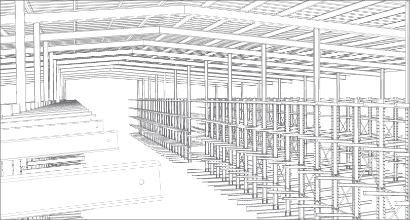 design of typical drive thru building with multiple aisle