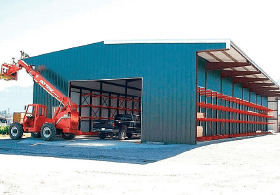 lbm building with drive thru capabilities