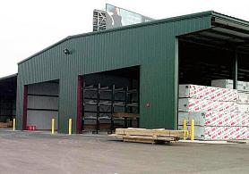 multi-functional building with bulk lbm storage area