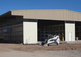 drive-thru building storing lbm matierals