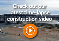 Time-lapse video showing contruction of TA travel stop