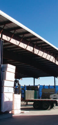 cutting shed designed for truss cutting and storage
