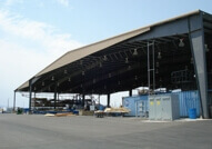 custom designed building for truss storage and manufacturing